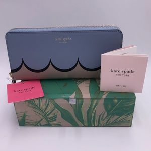 Kate spade scallop slim continental wallet